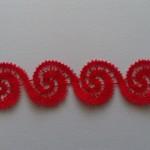 Red bracelet cuff