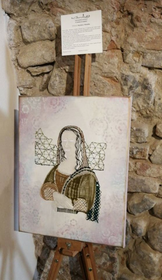 Bobbin lace and Mona Lisa